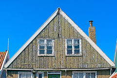 Деталь фасада несенного домом вне в Marken Стоковая Фотография