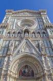 Деталь фасада собора Стоковое Изображение