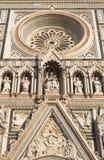 Деталь фасада собора Стоковое Фото