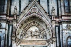 Деталь фасада собора Santa Croce Стоковые Изображения RF