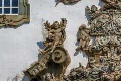 Деталь фасада Sao Francisco de Assis Церков - Sao Joao Del Rei, мины Gerais, Бразилия стоковое изображение rf
