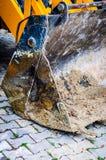 Деталь фронта затяжелителя Backhoe стоковые изображения rf