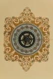 Деталь флористического украшенная в тайском королевском дворце Стоковая Фотография
