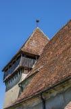 Деталь церковь-крепости в румынском городке Copsa mar Стоковые Изображения
