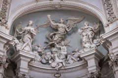Деталь часовни Lancellotti стоковое изображение
