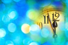 Деталь часов Нового Года Стоковое Фото
