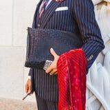 Деталь человека вне здания i модного парада Cristiano Burani Стоковое Изображение RF