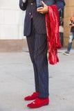 Деталь человека вне здания i модного парада Cristiano Burani Стоковые Изображения RF