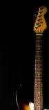 Деталь шеи и головы электрической гитары Стоковые Фото