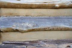 Деталь экстерьера бревенчатой хижины Стоковые Изображения