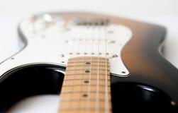 Деталь электрической гитары стоковое фото rf