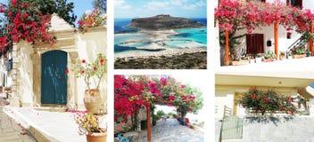 Деталь achitecture двери в гостинице строя Грецию Стоковые Изображения RF