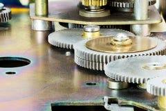Деталь Cog и колеса макроса механизма шестерни Стоковое Фото