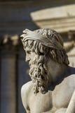 Деталь dei Quattro Fiumi Фонтаны на аркаде Navona в Риме стоковая фотография rf