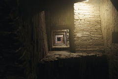 Деталь Del Mangia Башни в Сиене Стоковое Изображение