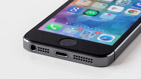 Деталь IPhone 5S Стоковые Изображения
