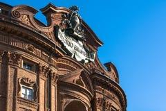 Деталь Palazzo Carignano в Турине стоковая фотография