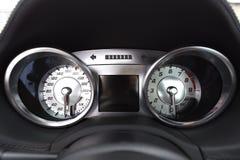 Деталь speedo автомобиля Стоковые Изображения RF