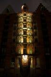 Деталь Speicherstadt Гамбурга на ноче Стоковые Изображения RF