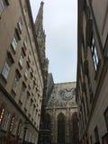 Деталь St Stephen & x27 фасада и толя; церковь s, вена, Австрия Стоковые Изображения RF