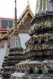 Деталь Wat Pho Бангкока архитектурноакустическая Стоковые Изображения RF