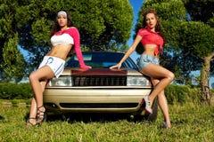 детеныша девушки автомобиля готовые сексуальные 2 моя Стоковое Изображение