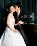детеныши азиатских пар счастливые Стоковое Фото