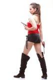детеныши белой женщины пушки сексуальные Стоковые Изображения RF