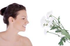детеныши белой женщины цветка сексуальные Стоковые Фото