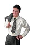 детеныши бизнесмена счастливые Стоковые Изображения RF