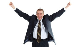 детеныши бизнесмена счастливые стоковая фотография