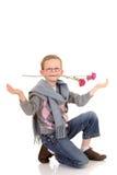 детеныши Валентайн влюбленности мальчика Стоковые Изображения RF