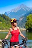 детеныши велосипедиста женские Стоковые Фото