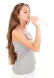 детеныши воды повелительницы газа красивейшей бутылки выпивая Стоковые Фото