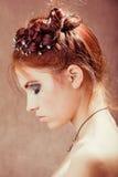 детеныши волос девушки красные Стоковая Фотография
