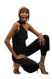 детеныши девушки афроамериканца Стоковое Изображение RF