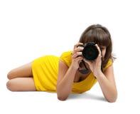детеныши девушки камеры стоковое фото