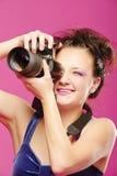 детеныши девушки камеры Стоковое Изображение RF