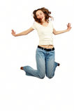 детеныши девушки красотки скача Стоковая Фотография RF