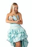 детеныши девушки платья шарика голубые Стоковое Изображение