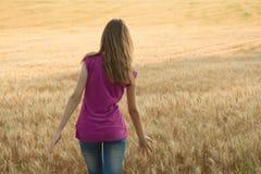 детеныши девушки поля Стоковая Фотография