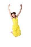 детеныши девушки скача ся предназначенные для подростков стоковое фото rf