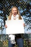 детеныши девушки специалиста по охране окружающей среды Стоковая Фотография RF