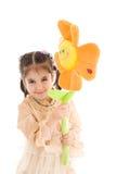 детеныши девушки цветка изолированные белые Стоковые Изображения RF