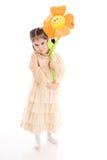 детеныши девушки цветка изолированные белые Стоковые Фото