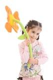 детеныши девушки цветка изолированные белые Стоковое фото RF