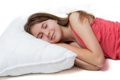 детеныши довольно спать девушки Стоковые Изображения