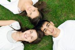 детеныши друзей счастливые стоковая фотография