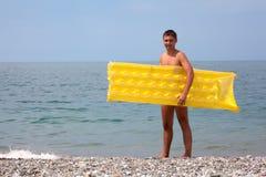 детеныши желтого цвета seacoast тюфяка ванты Стоковая Фотография