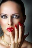 детеныши женского модельного портрета красотки сексуальные Стоковое Фото
